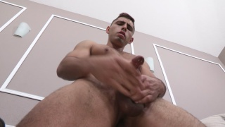 geeky latino guy finger fucks himself during JO session