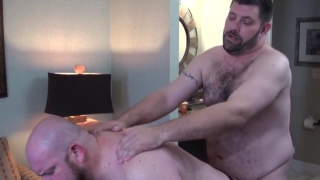 seven hairy fuckers in man-on-man sex