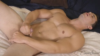 beefy hunk Chet's first JO video