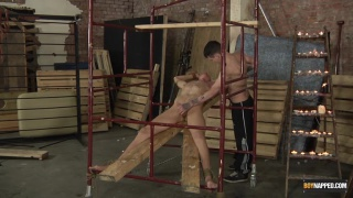 Poor Billy has been captured and tied up ...