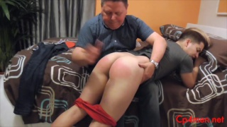 Spanish student gets spanking from his landlord