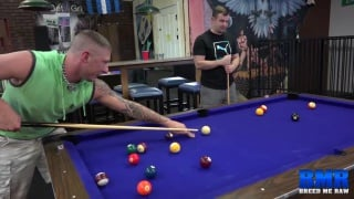 Tyler Griz and Chip Young fuck on the billiards table