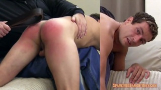 straight college student gets his ass beat red