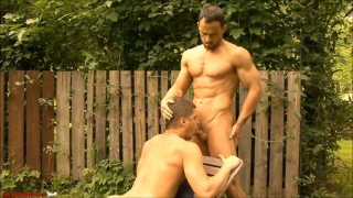 martin porter gladly swallows every inch of cory davis' cock