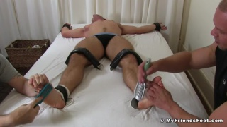 Scott Riley strapped down and Tickled