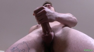 sexy boy Scott jerks his delicious cock