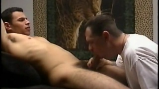 sucking the cum out of handsome straight dude