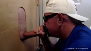 Sucking Biker Cock At The Gloryhole