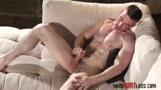 Scott Hunter strokes his uncut dick