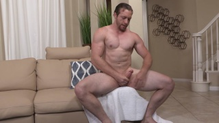 scruffy-faced Ralph jerks his dick at sean cody
