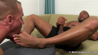 Micah brandt gets his feet serviced