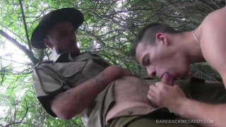 park ranger fucks Dick casey Bareback in the woods