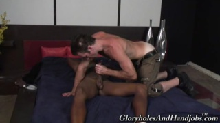 Hung black guy handjob
