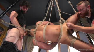 Dylan Strokes roped up and edged