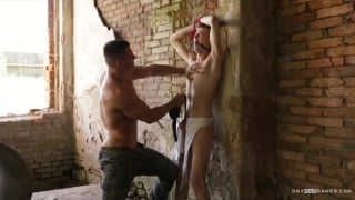recruit tied to a wall and stripped naked