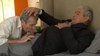 horny Grandpa gets sucked off by a daddy