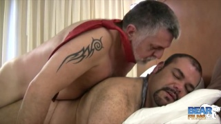 two horny bastards fuck in a motel room