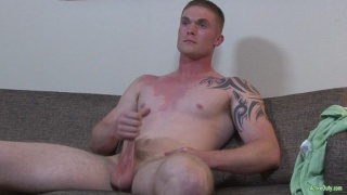 sexy guy Nathan Vine jerks his cock