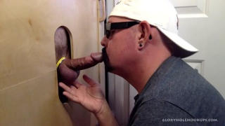 interracial Gloryhole Double Blowjob