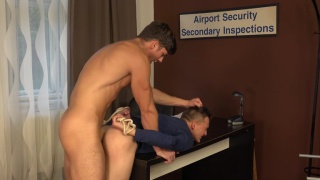 airport security with Martin Gajda and Peter Andre
