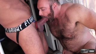 Hugh Hunter bottoms raw for Brad Kalvo