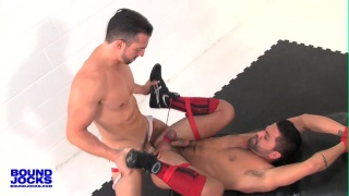 bound Dominic Pacifico fucked by Jimmy Durano