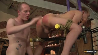 hung master slides into his slave's tight hole