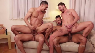 Ibrahim Moreno Takes On Three Uncut Cocks