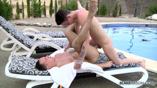 poolside fuck with Luke Desmond & Charley Cole