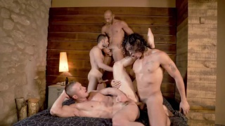 gang bang with ALEJANDRO CASTILLO, WOLF RAYET, DOMINIC ARROW, DENNIS SOKOLOV