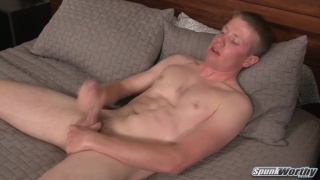 blond guy Zach makes his first porno