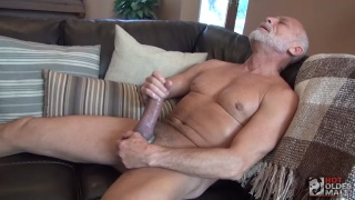 Daddy Max Stark jerks his huge cock