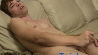 Twink Jerks His Cock