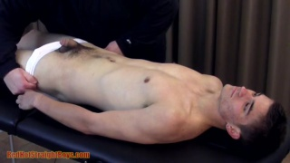 21-year-old straight boy gets stroked