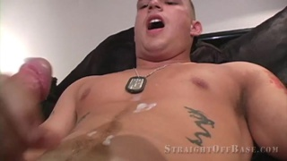 Lance Corporal Chase uses a cock pump