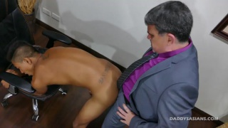 daddy and asian lover flip fucking