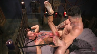 Anal Whore GEts a Night of Hot Wax and Flogging
