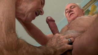 older men Lord Lickalot and Wild Horse fuck in bed