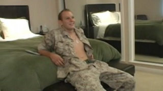 manly marine stud gets his dick sucked