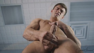 good-looking Beau jacks his dick