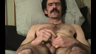 hairy redneck Andy jerks his cock