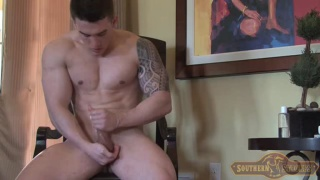 chiseled guy Austin Scott masturbates