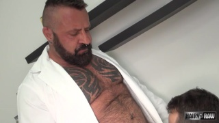 muscle bear Marc Angelo's first bareback fuck