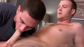 Benjamin Dover pounds Tyler Griffin hard and fast