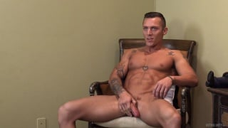 Nicholas Sykes gets naked and stroke his meaty cock
