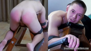 18-year-old Josh's second time at Spanking Straight Boys