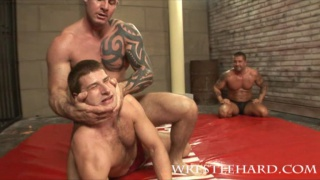 Hot wrestler group sex