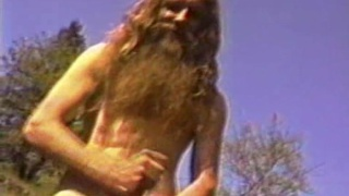 Outdoor Hippie Sucks Himself Off