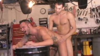 Hairy ass invaded by hard cock