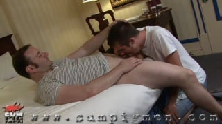 Eric sucks Mike's cock